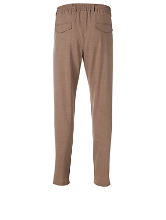 ELEVENTY Wool Stretch Jogger Pants Men's Brown