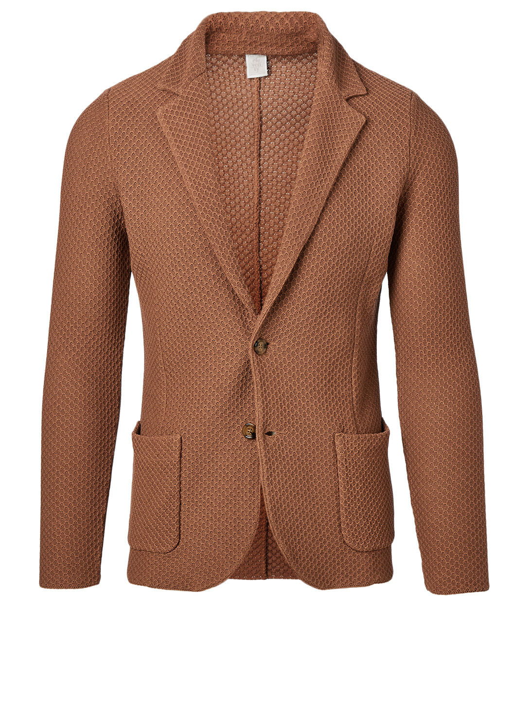 ELEVENTY Honeycomb Cotton Jacket Men's Brown