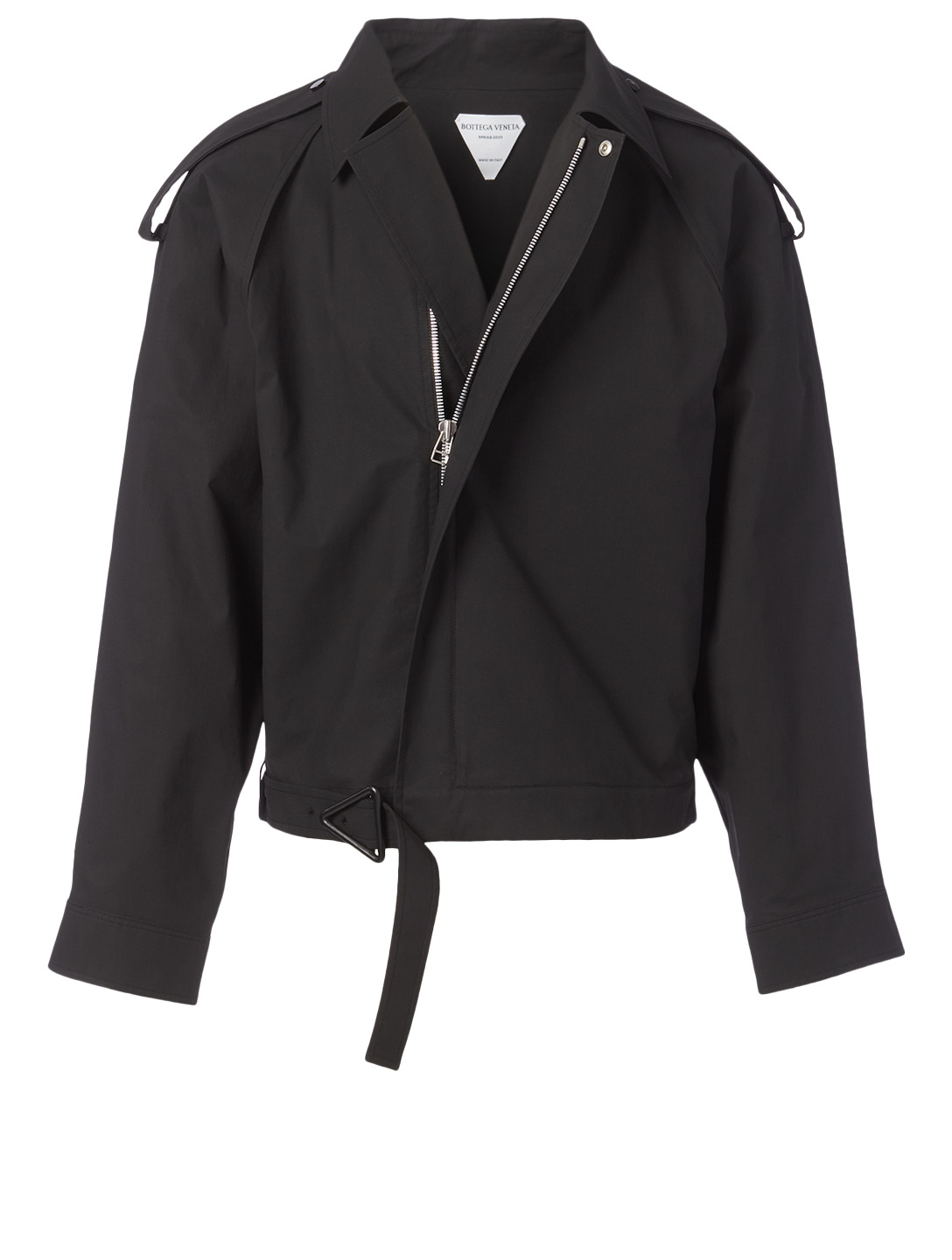 BOTTEGA VENETA Cotton-Blend Blouson Jacket Men's Black