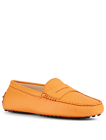 TOD'S Gommino Leather Driving Shoes Women's Orange