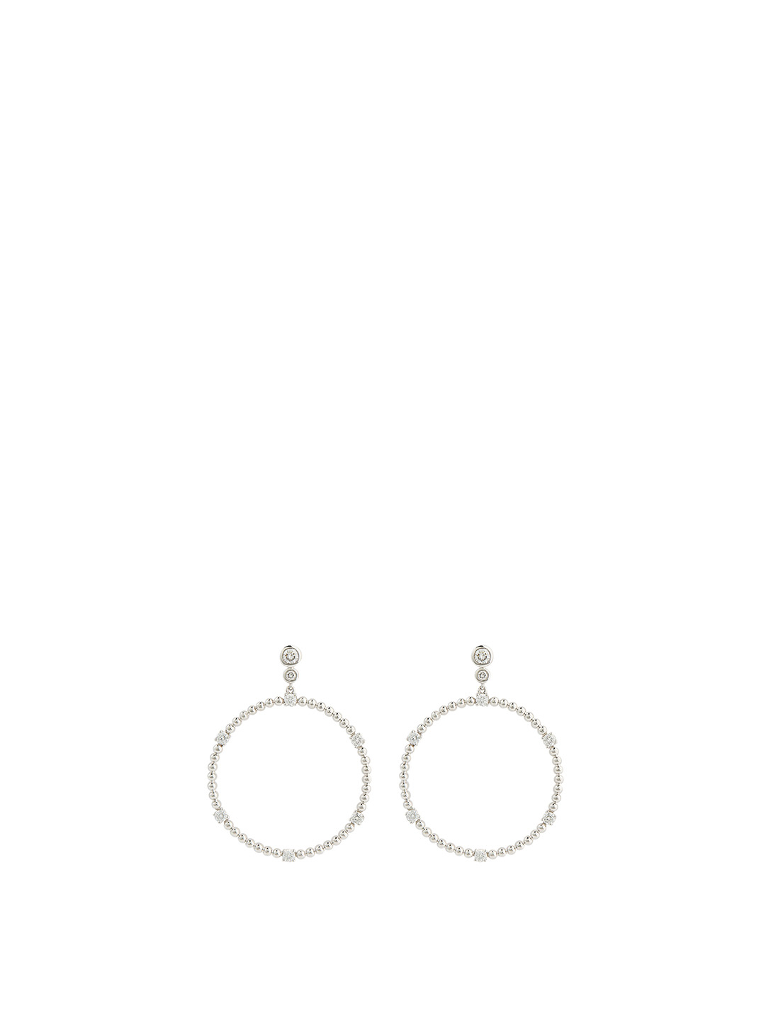 MARIA CANALE Flapper 18K White Gold Circle Dangle Earrings With Diamonds Women's Metallic