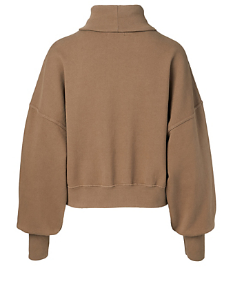 AGOLDE Balloon-Sleeve Turtleneck Sweater Women's Brown