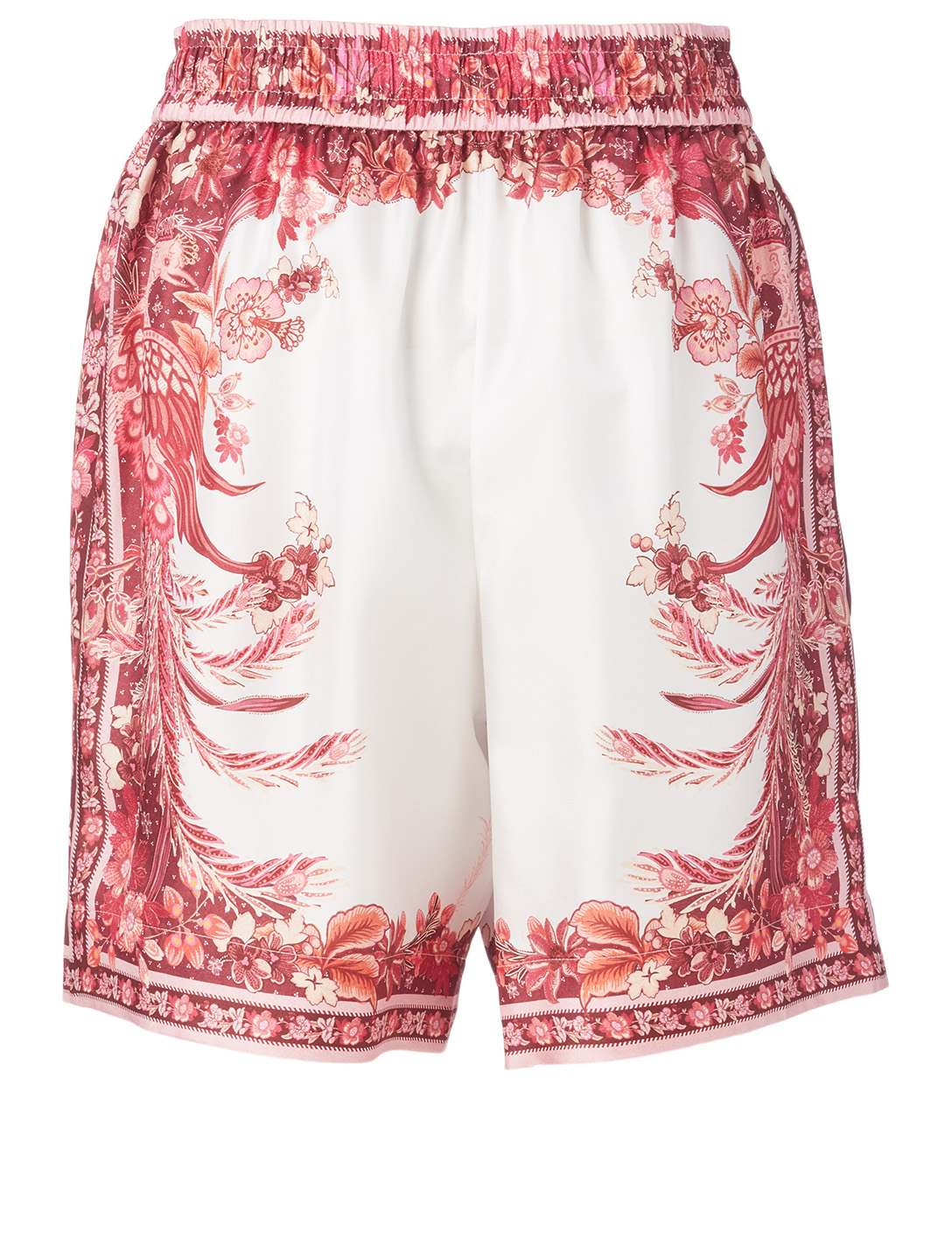 ZIMMERMANN Wavelength Silk Shorts With Placement Print Women's Pink