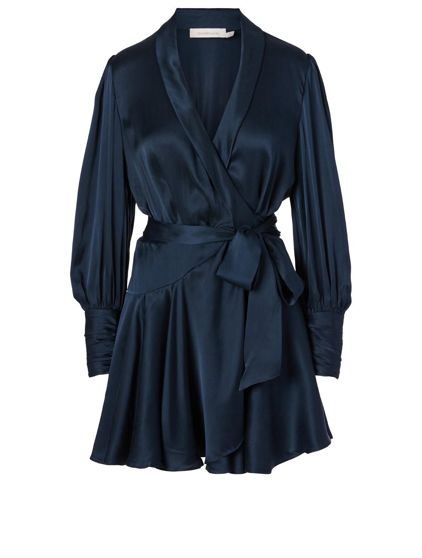 Zimmermann Silk Wrap Mini Dress Holt Renfrew