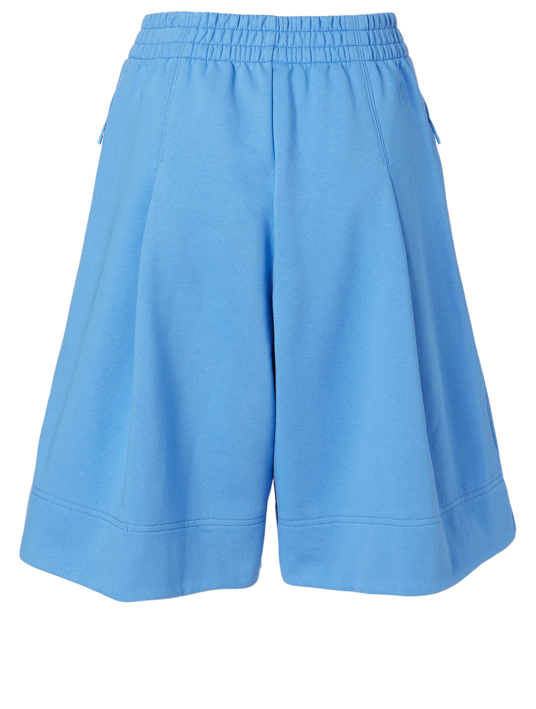 Y-3 French Terry Cotton Wide-Leg Shorts Women's Blue
