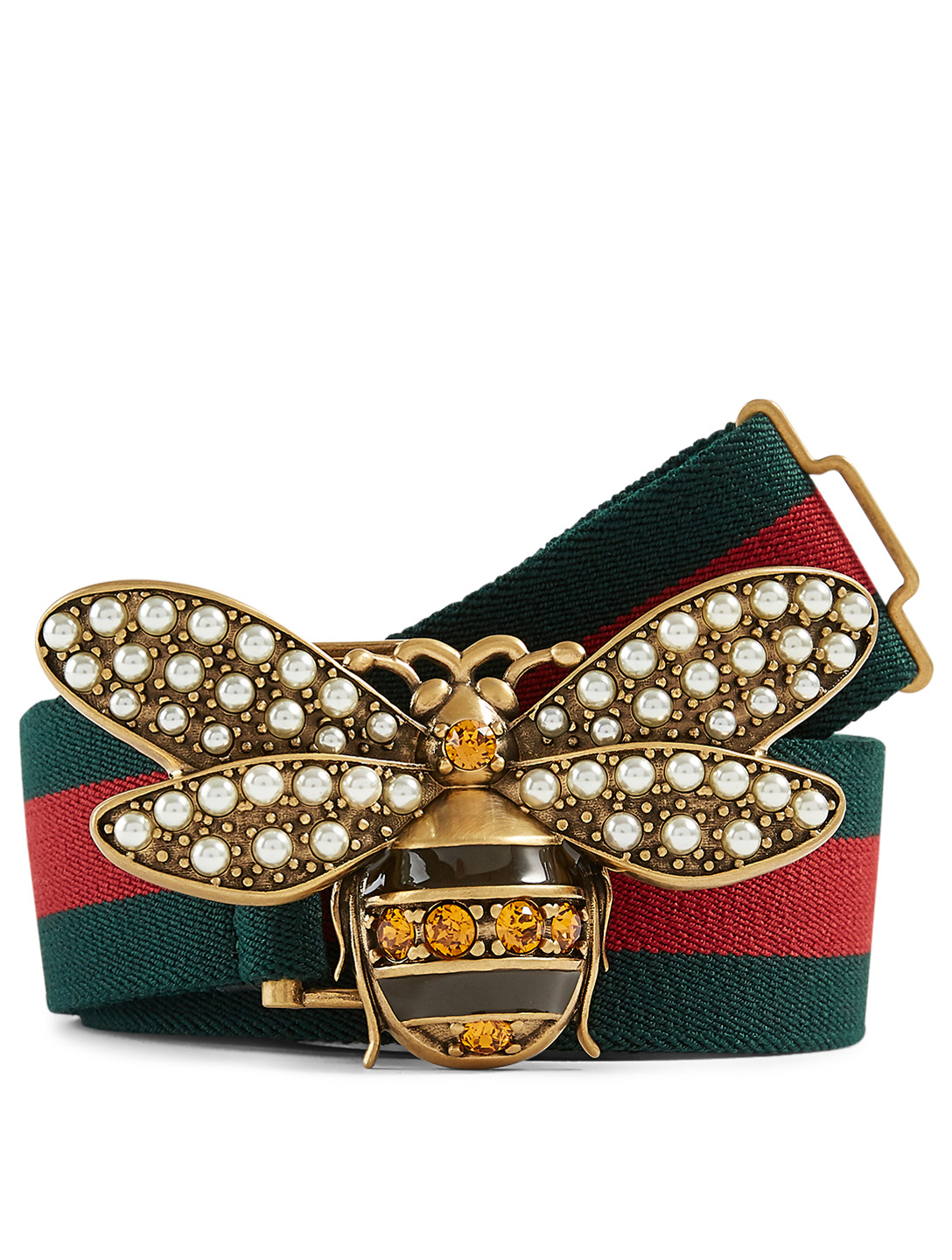GUCCI Queen Margaret Web Belt Women's Green