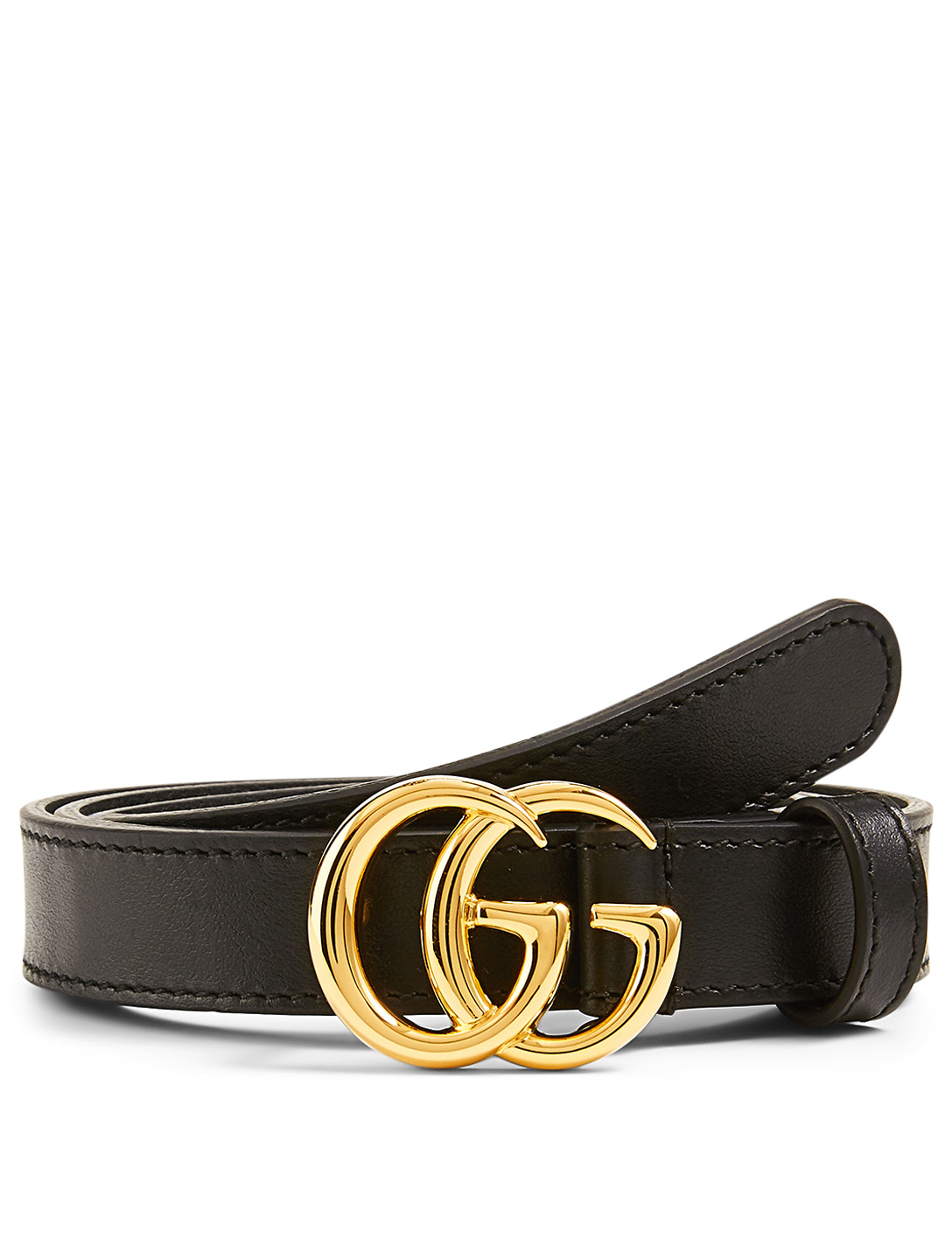 GUCCI GG Marmont Leather Belt Women's Black