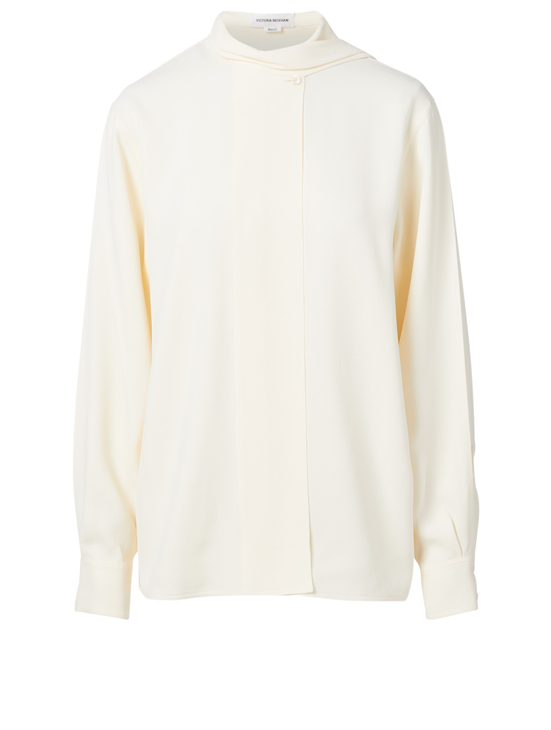 VICTORIA BECKHAM Scarf Neck Blouse Women's White