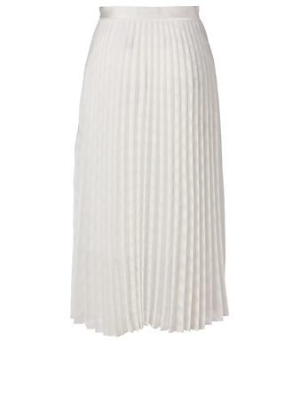 VICTORIA VICTORIA BECKHAM Pleated Midi Skirt Women's White