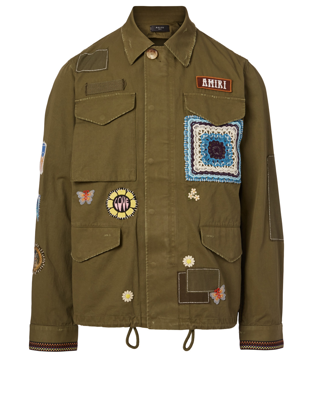 AMIRI Brothers Military Short Parka Men's Green