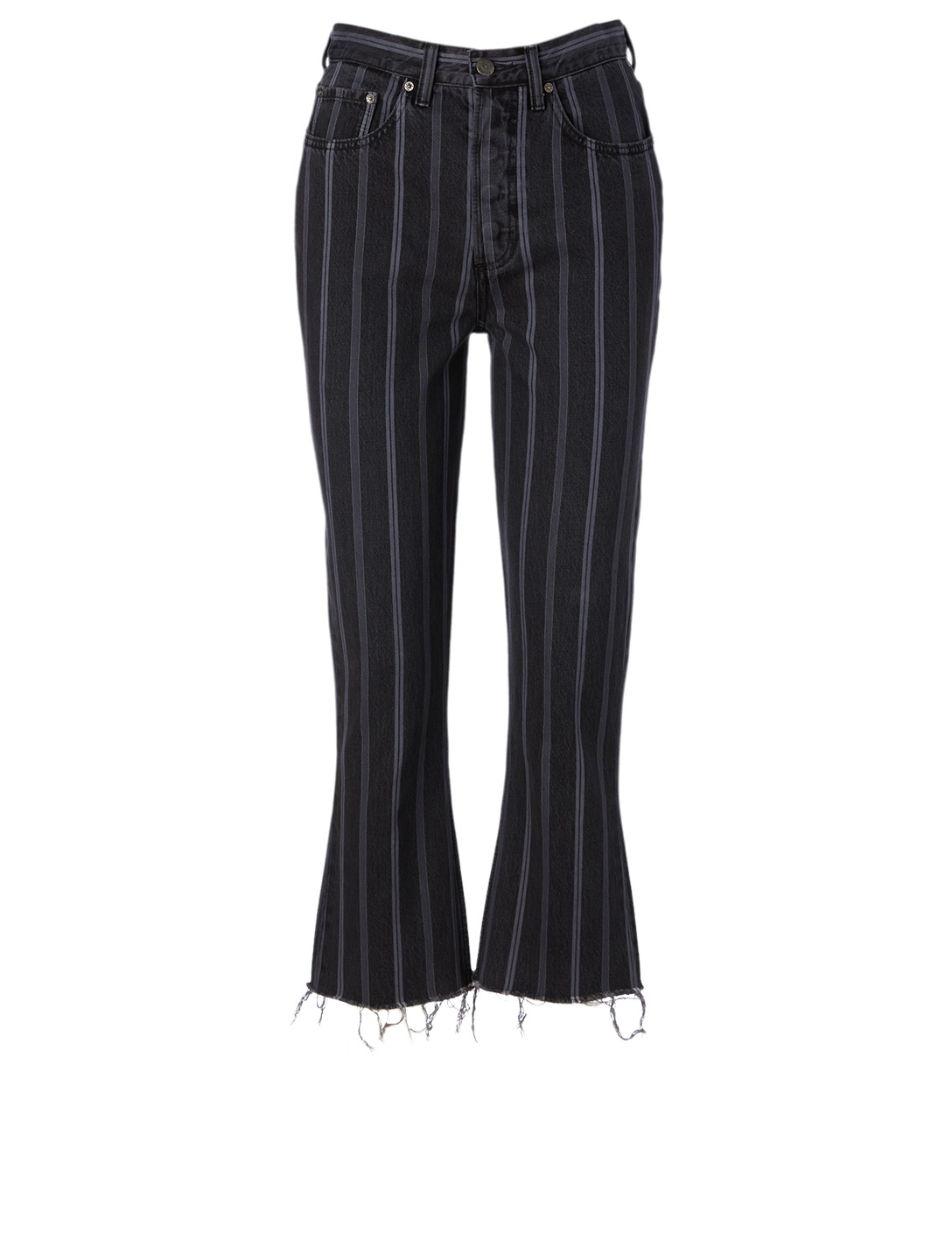 BOYISH The Darcy High-Waisted Jeans In Stripe Print Women's Black