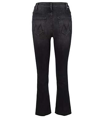MOTHER Hustler Jeans With Ankle Fray Women's Black