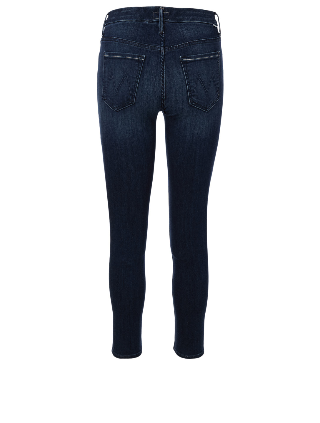 MOTHER Looker High-Waisted Ankle Jeans Women's Blue