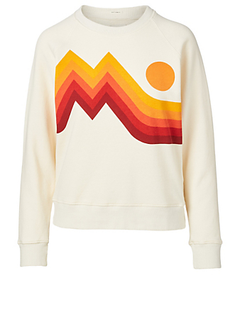 MOTHER Sunset Cotton Sweater Women's White