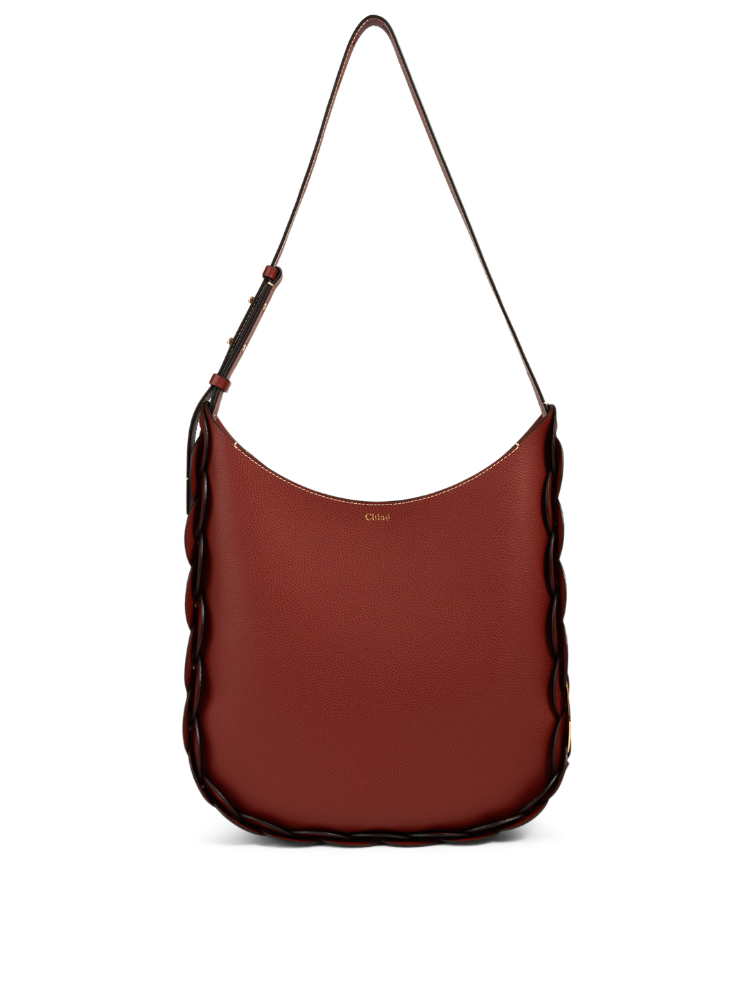CHLOÉ Medium Darryl Leather Hobo Bag Women's Brown