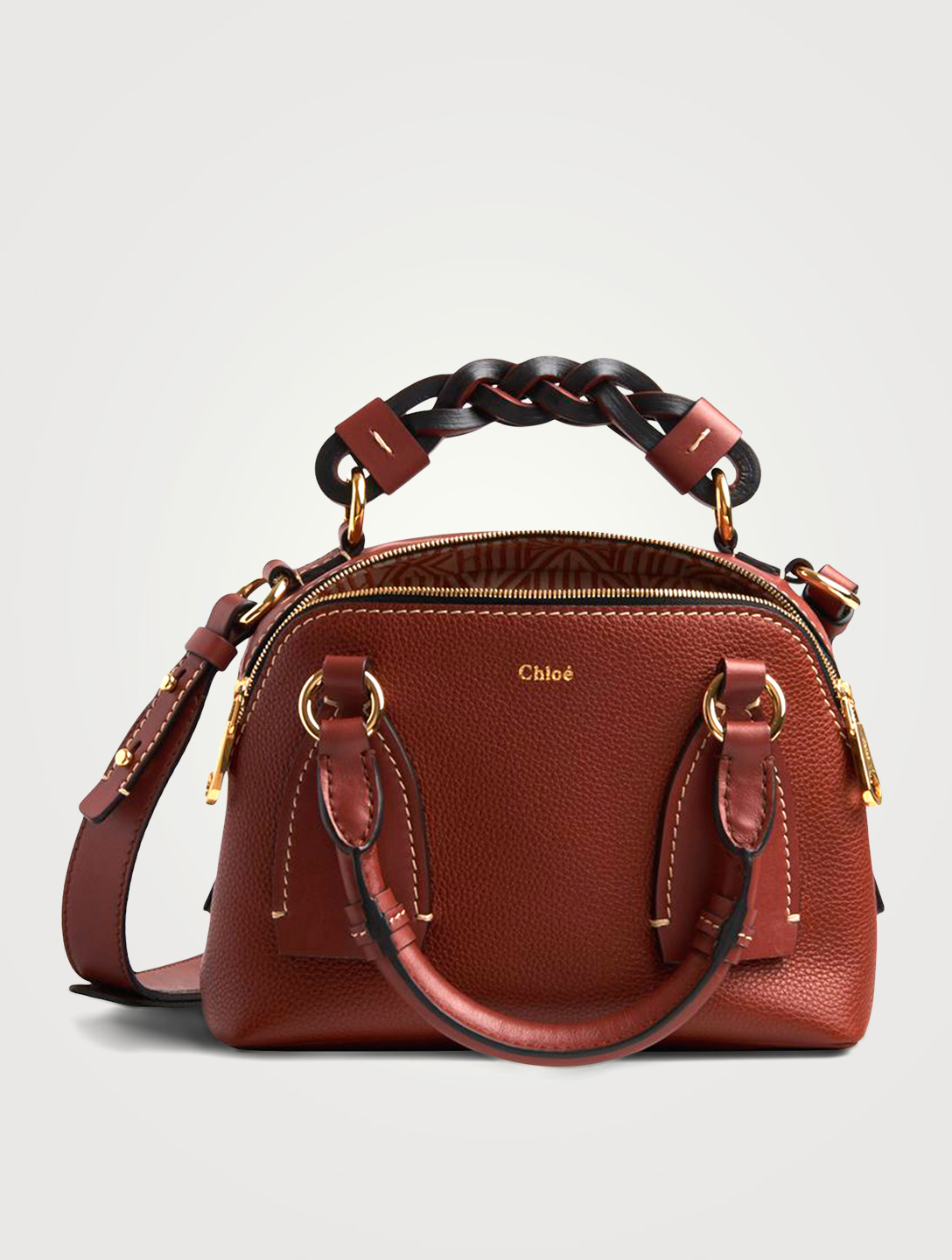 CHLOÉ Small Daria Leather Bag Women's Brown