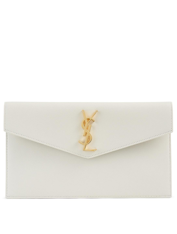Saint Laurent Medium Uptown Ysl Monogram Leather Envelope
