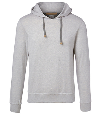ELEVENTY Cotton Drawstring Hoodie Men's Grey