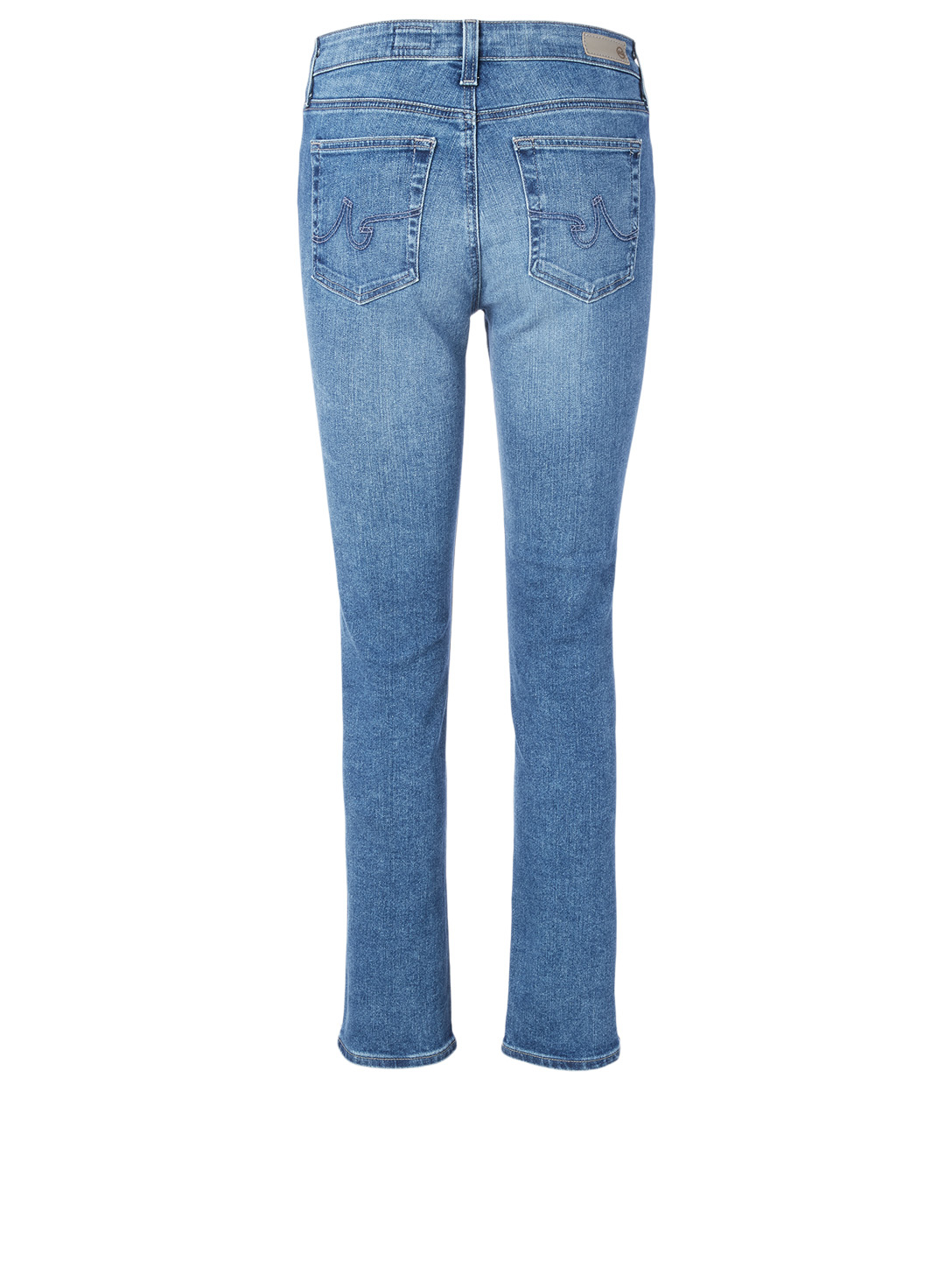 AG Mari High-Waisted Slim Straight Jeans Women's Blue