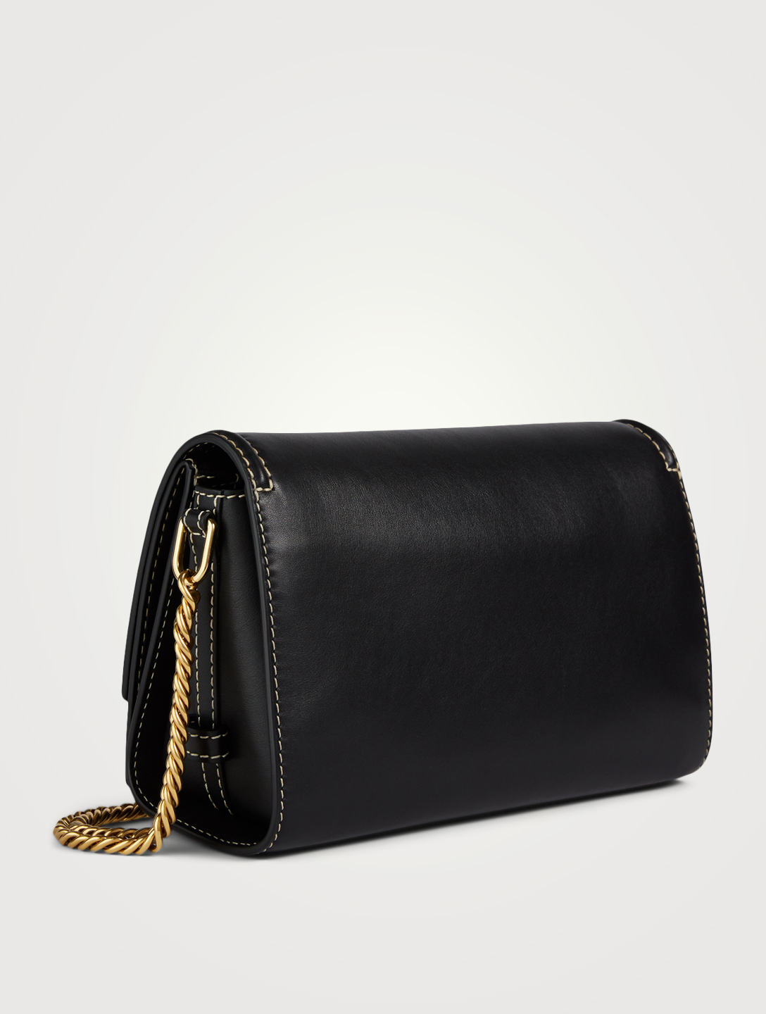 ALEXANDER MCQUEEN The Story Leather Chain Bag Women's Black