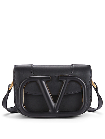 VALENTINO GARAVANI Mini Supervee Leather Bag Women's Black
