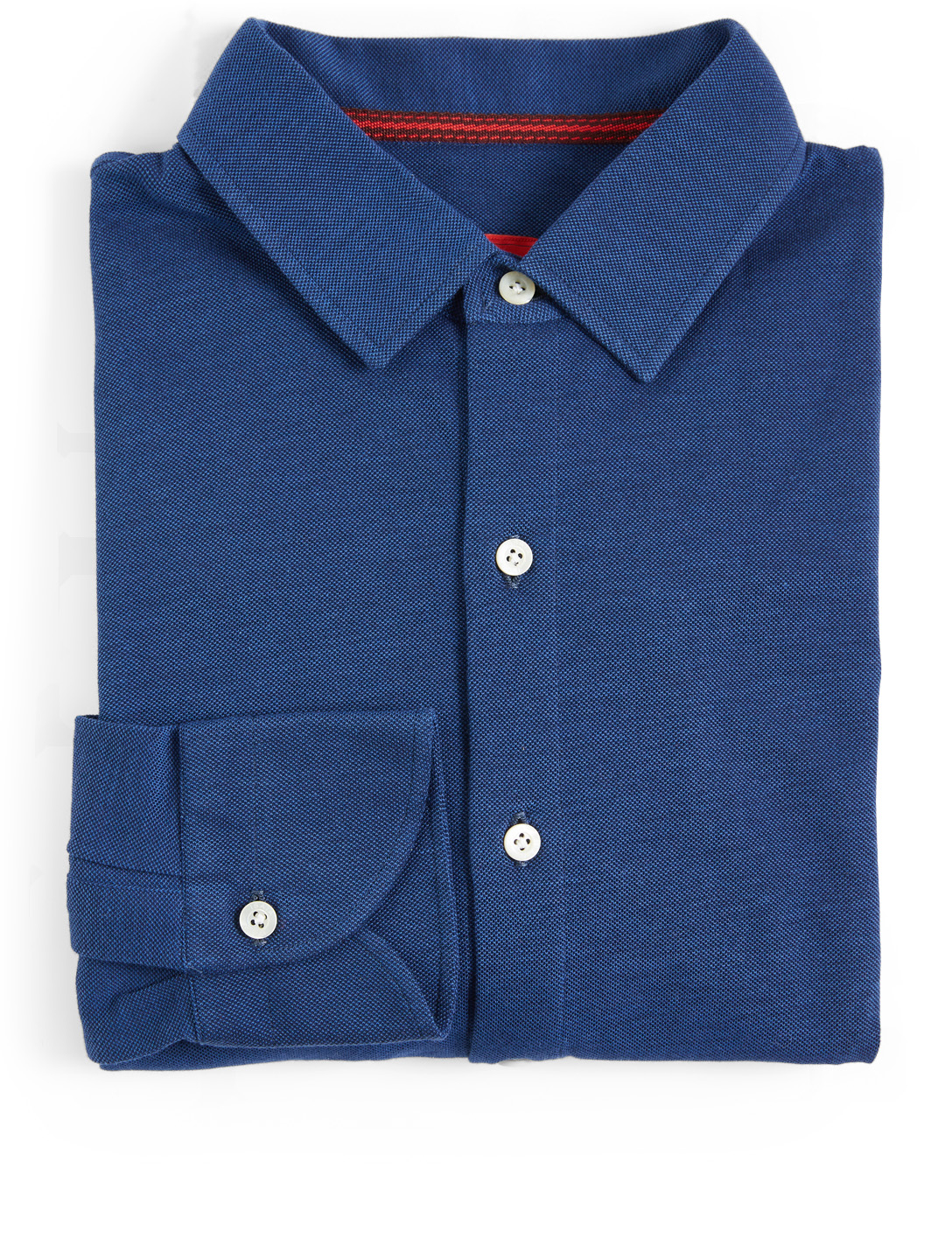 ISAIA Cotton Polo Shirt Men's Blue