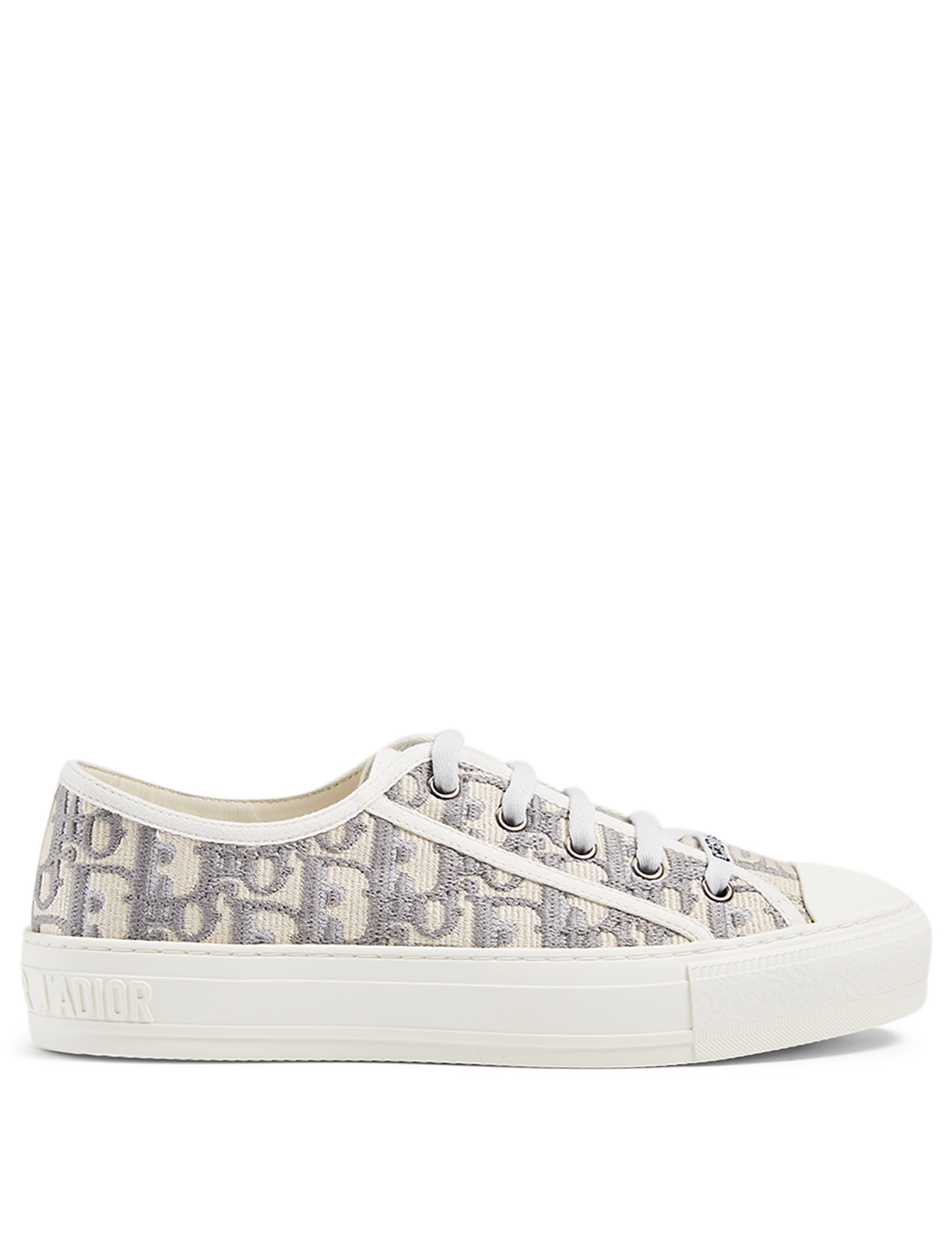 DIOR Walk'n'Dior Dior Oblique Embroidered Cotton Sneaker Women's Grey