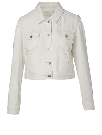 PAIGE Vivienne Denim Jacket Women's White