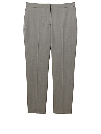 ALEXANDER MCQUEEN Wool Cigarette Pants Women's Grey
