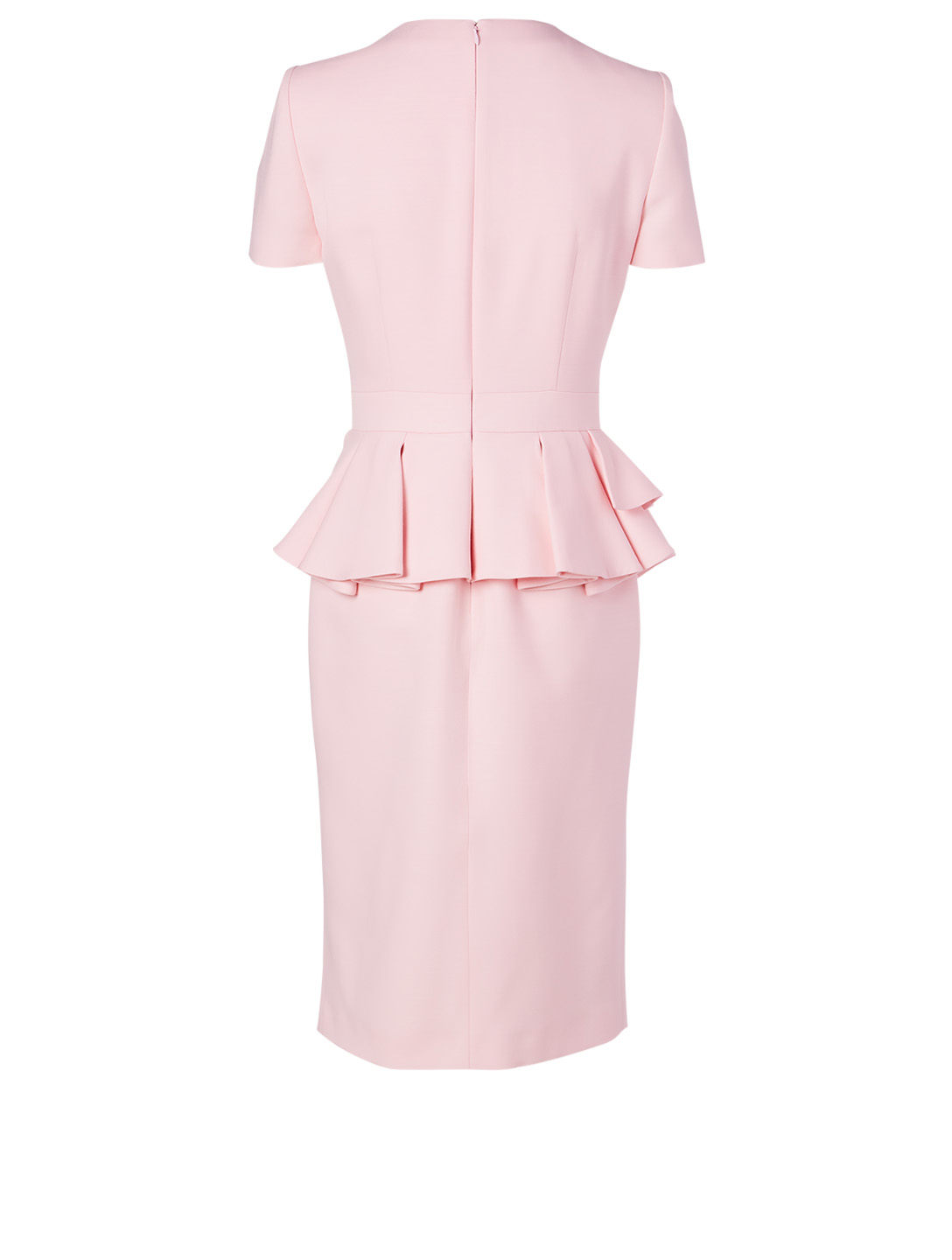 ALEXANDER MCQUEEN Wool And Silk Dress With Peplum Women's Pink