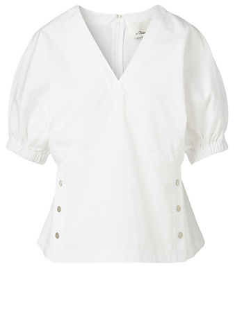 3.1 PHILLIP LIM Cotton Top With Studs Women's White