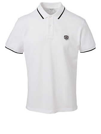 KENZO Tiger Crest Polo Shirt Men's White