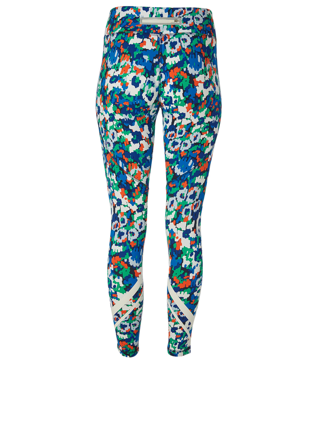 TORY SPORT Chevron Mid-Rise Leggings In Primary Floral Print Women's Multi
