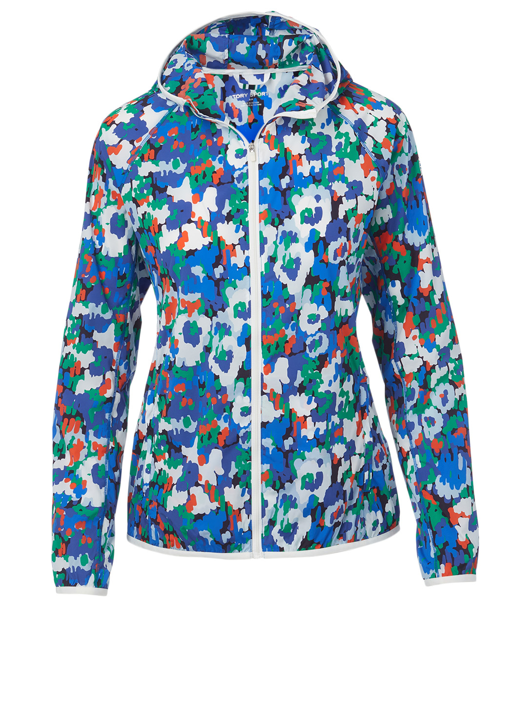 TORY SPORT Nylon Packable Jacket In Primary Flora Print Women's Multi