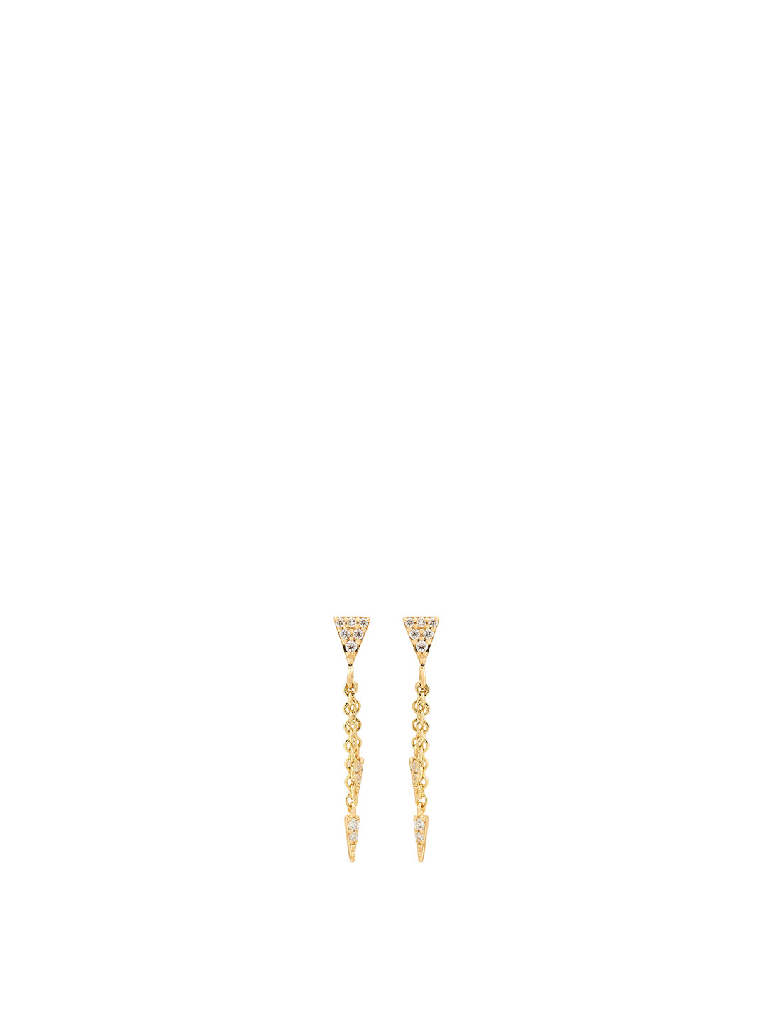 SYDNEY EVAN 14K Gold Fringe Drop Earrings With Diamonds Women's Metallic