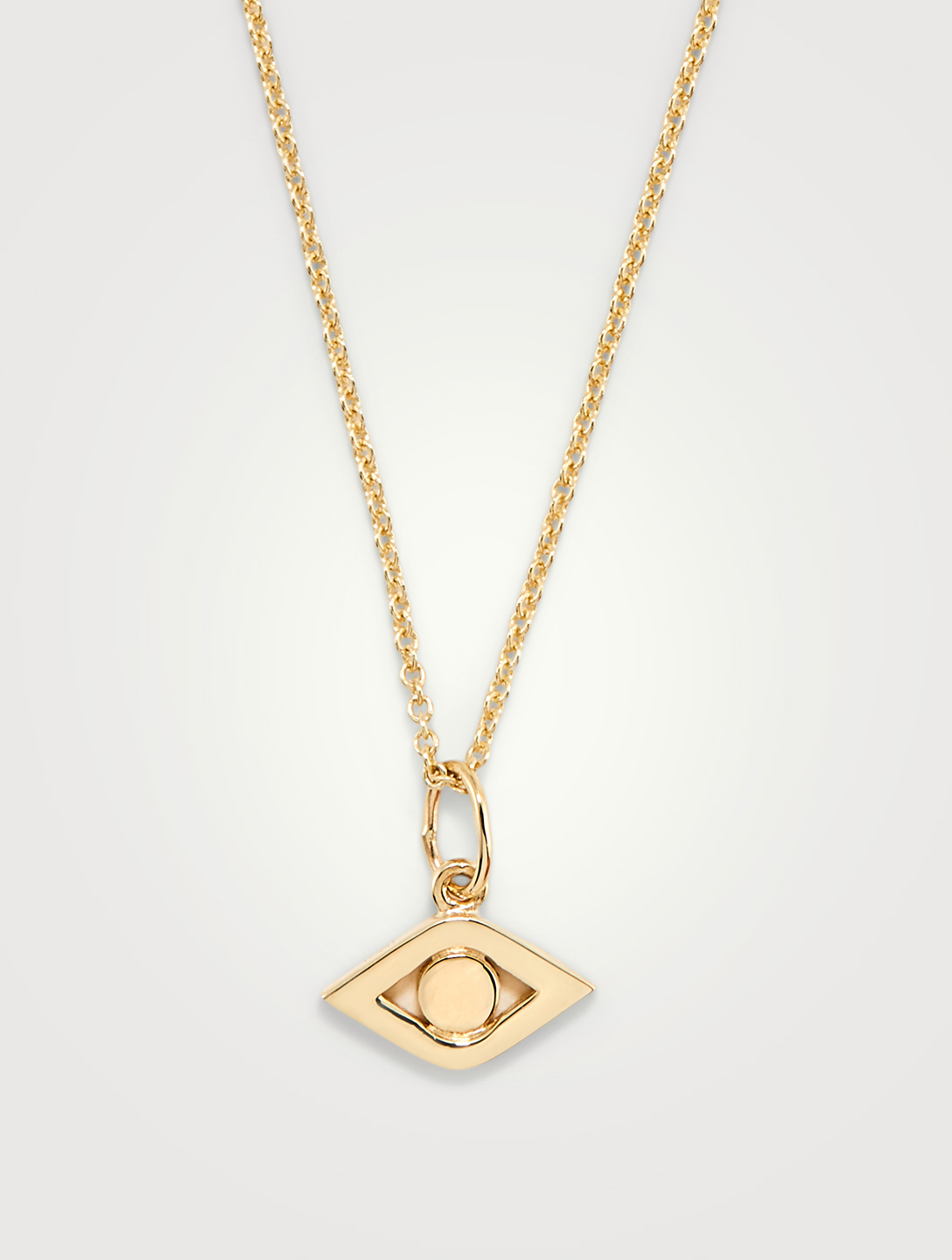 SYDNEY EVAN Medium 14K Gold Evil Eye Charm Necklace Women's Metallic