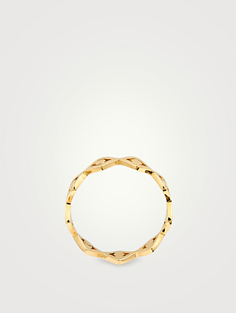 SYDNEY EVAN 14K Gold Evil Eye Ring Women's Metallic