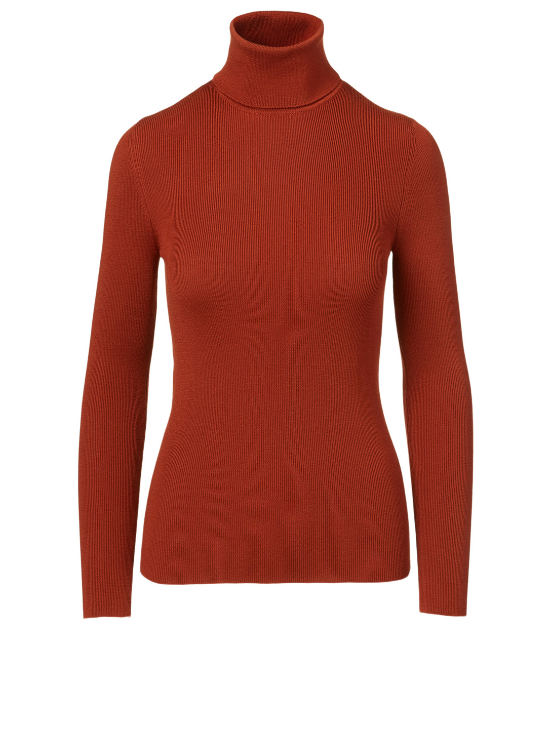 GUCCI Fine Wool Turtleneck Top Women's Brown
