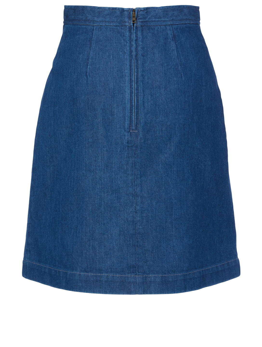 GUCCI Denim Skirt With Ribbon Women's Blue