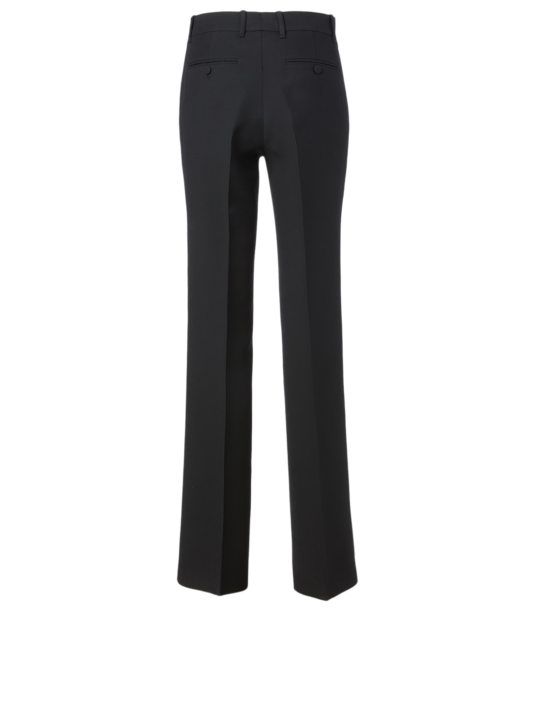 GUCCI Wool And Silk Flared Pants Women's Black