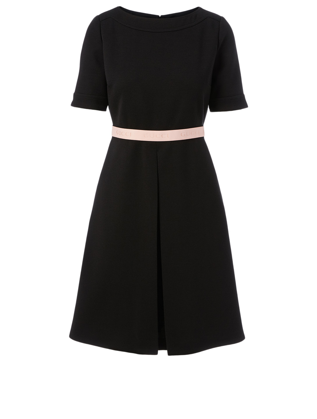GUCCI Wool-Blend Dress With Logo Band Women's Black