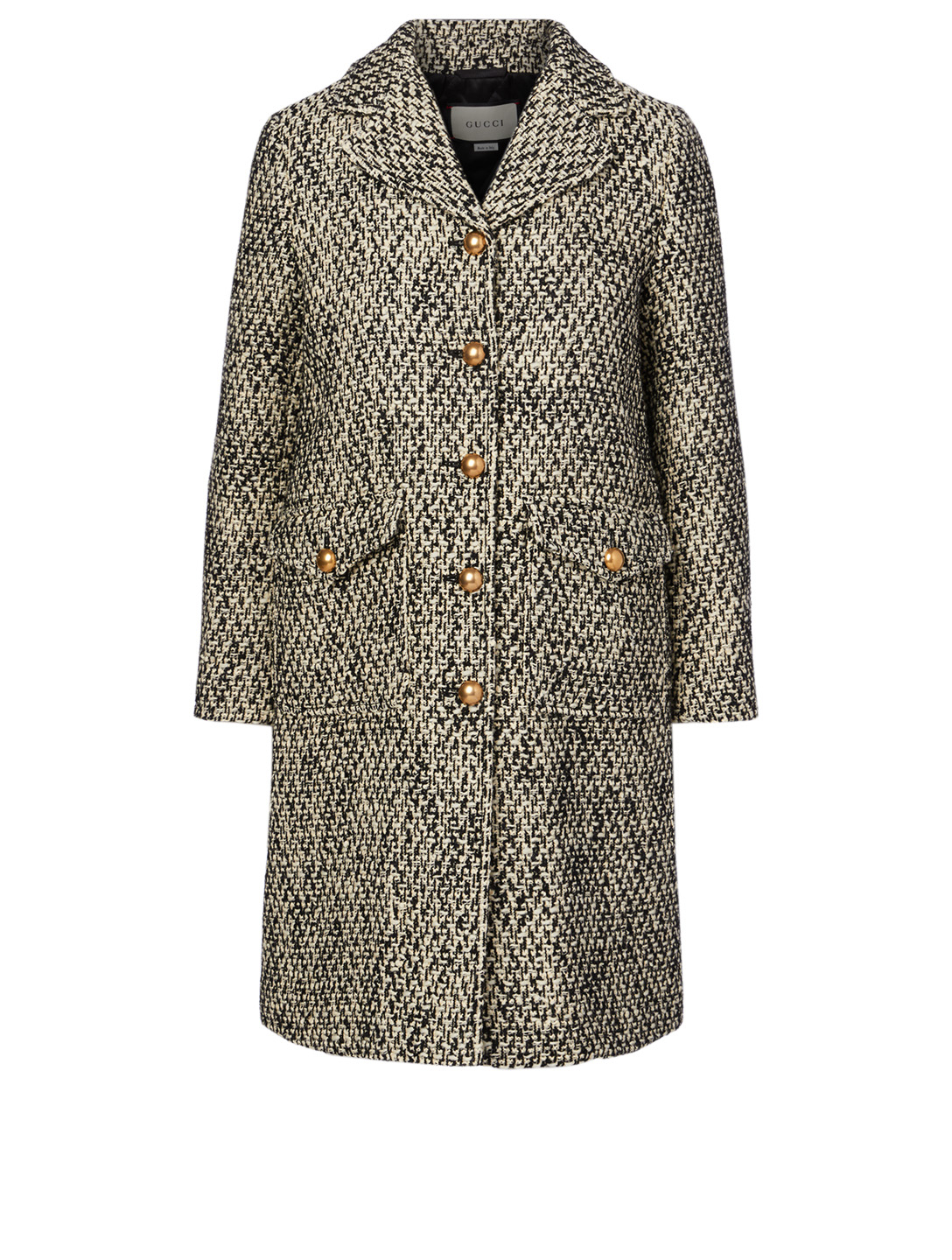 GUCCI Wool-Blend Tweed Coat With Double G Women's Multi