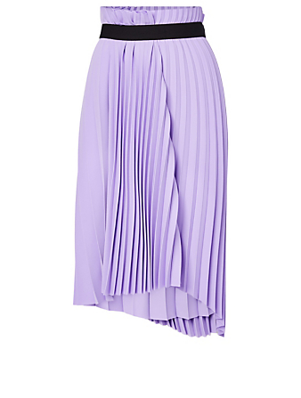 BALENCIAGA Pleated Elastic Skirt Women's Purple