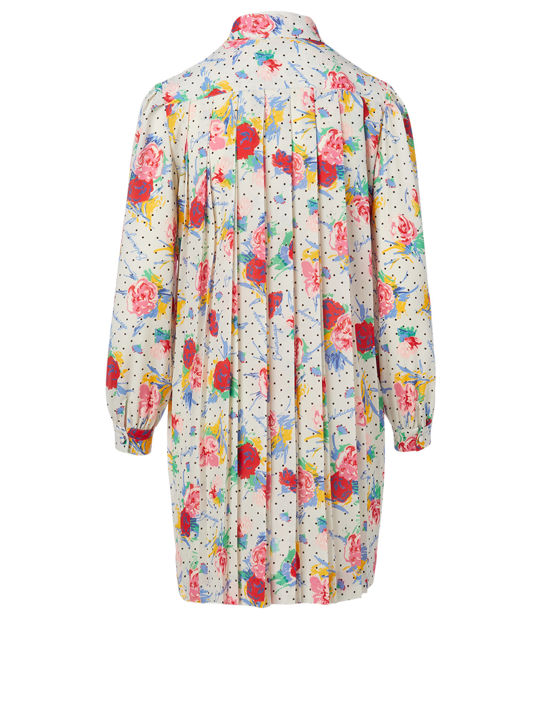 BALENCIAGA Long-Sleeve Mini Dress In Floral Print Women's Multi
