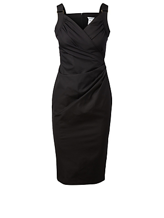 MAX MARA Laziale Cotton Wrap Dress Women's Black