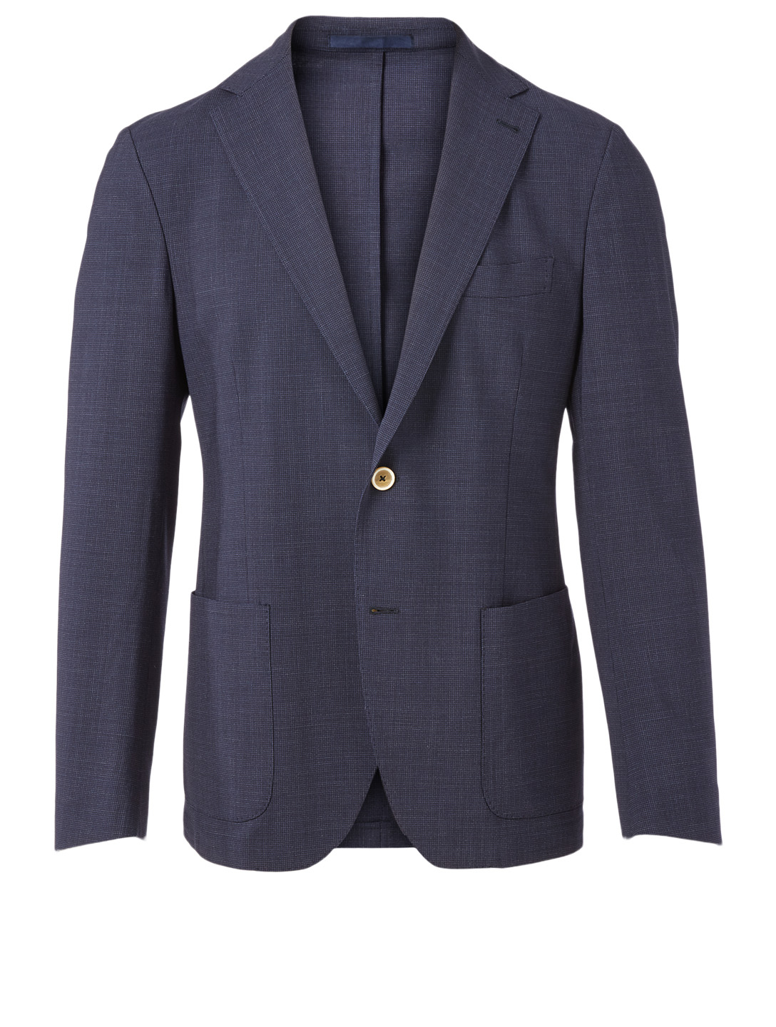 ELEVENTY Wool-Blend Jacket In Check Print Men's Blue