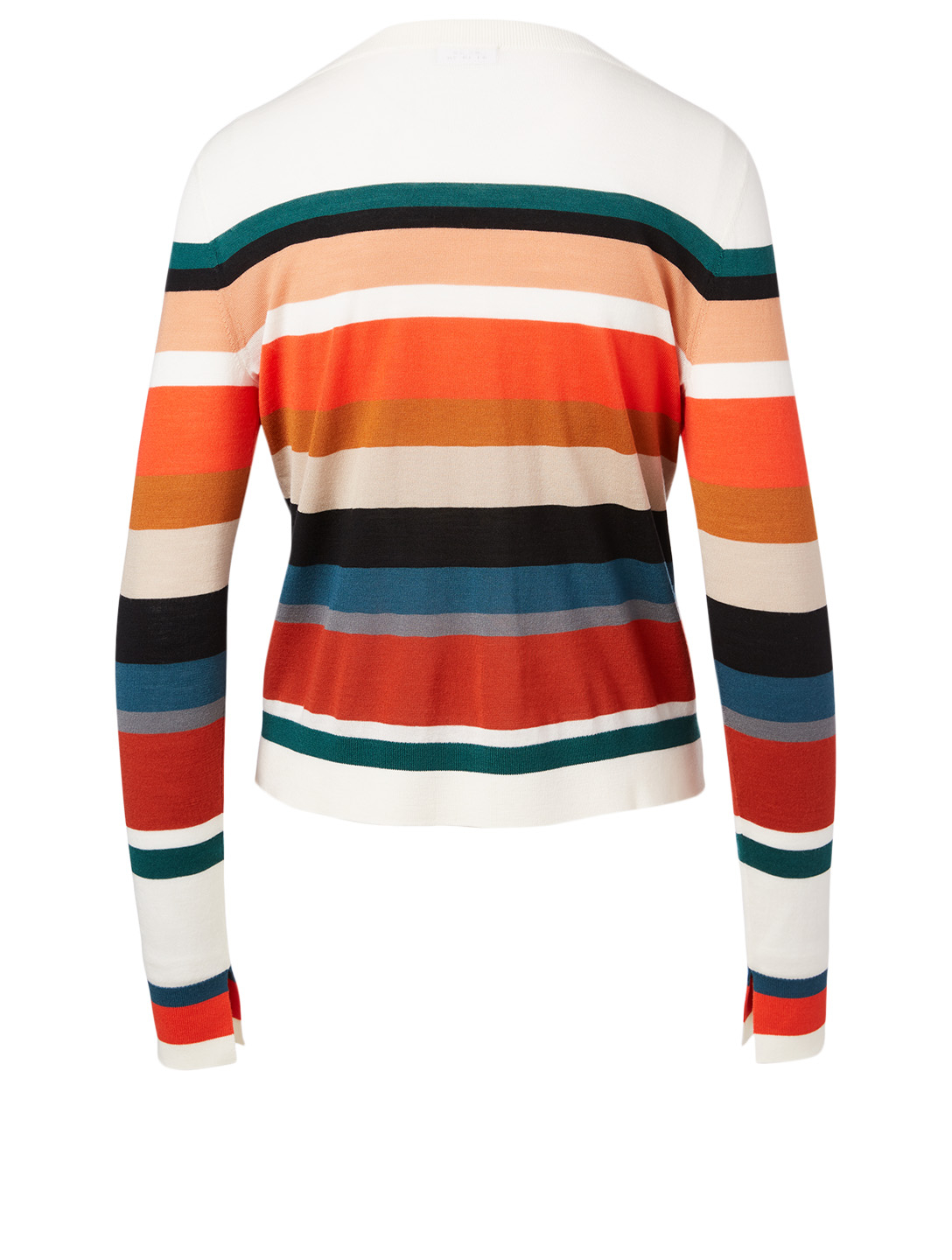 AKRIS PUNTO Wool Roundneck Top In Striped Print Women's Multi