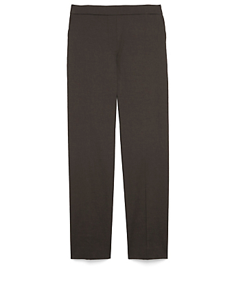 THEORY Treeca Linen-Blend Pants Women's Black