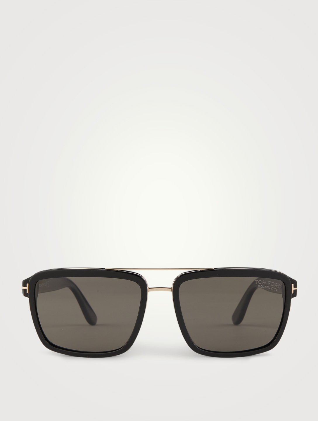 TOM FORD Anders Rectangular Aviator Sunglasses Men's Black