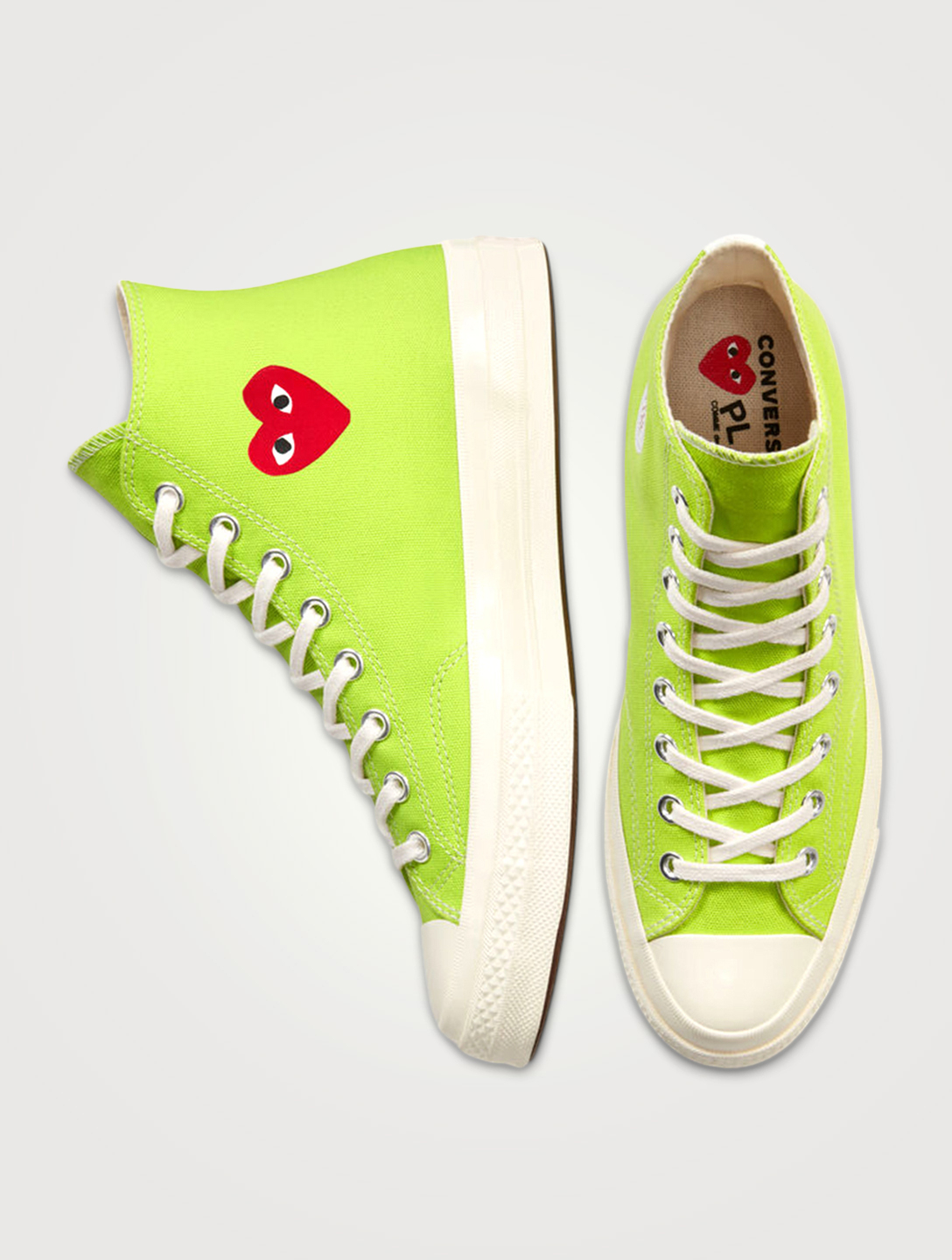 COMME DES GARÇONS PLAY CONVERSE X CDG PLAY Chuck Taylor '70 High-Top Sneakers Men's Green
